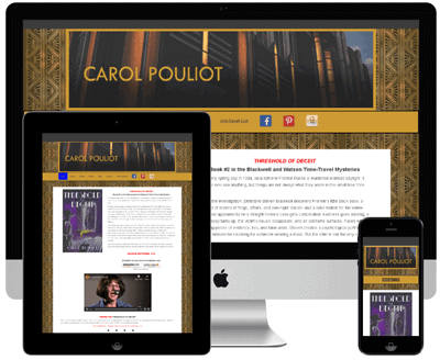 Threshold Of Deceit | Mystery Writer Carol Pouliot Author
