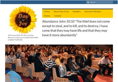 Day of Joy is a conference ministry